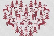Krížikové vyšívanie vianoce
