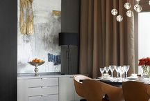Our favourite dining room layouts / Inspiration on making art a beautiful feature of your home - dining room edition