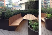 3 Merchant Square | Our Work / A striking scheme of bespoke curved powder coated steel planters for the prestigious Merchant Square development in Paddington, London.  Designed by Andy Sturgeon Garden Design and built by Frosts Landscapes, this fantastically complicated project clearly illustrates our position as market leaders in planter construction