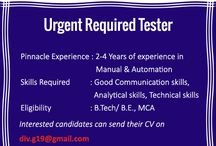 we have requirement of Testers