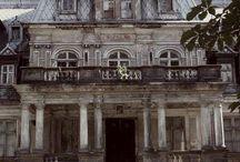 Abandoned beautiful houses