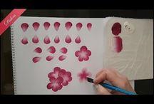 Anlatımlı çiçek çizimi