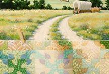 BARKERQUILTSCAPES / Pinturas de quilts de Rebecca Barker. ¡¡Preciosas!!