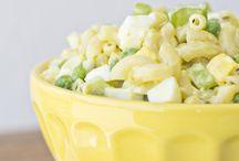 Macaroni pea salad
