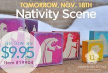 Nativity Scene with Uppercase Living