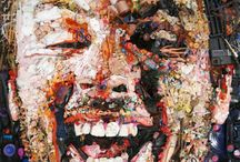 fractal face / assemblage and collage portraits  / by Ruud van Koningsbrugge