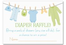 Baby Shower Diaper Raffle Tickets / These chic baby shower diaper raffle cards are an elegant way to play a fun baby shower or baby sprinkle game! Slip these cards into all of your baby shower or baby sprinkle invitations so your guests are sure to bring a box of diapers for a chance to win a prize at your shower! Don't forget to shop all of our  Baby Shower, Baby Sprinkle invitations, gifts and goodies for your party in our store or visit our website, www.LaBebbaDesigns.com!