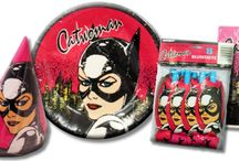 Catwoman Birthday Party Ideas, Decorations, and Supplies / http://hardtofindpartysupplies.com/super-heroes-birthday-party-supplies/Catwoman-Vintage-Birthday-Party-Supplies