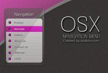 Free PSD OSX Vertical Navigation Menu