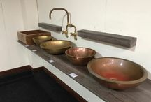 Victorian Side bathrooms Brass and copper basins
