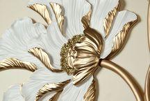 Aranyozott virág