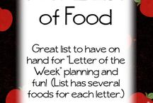 letter of the week snacks