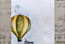 открытки акварель