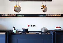blue kitchens