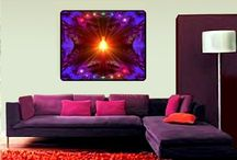 Tapestries, Original Art, Chakra Wall Hangings / I have huge fleece blankets that double as either a cozy blanket or a wall tapestry. Every single one of them is my own, original artwork that I have attuned with Reiki Healing Energy and are primarily focused around the seven chakras. Enjoy and keep shining!