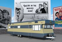 """The long, long trailer - DAZ Iray render / A realistic, very high detailled reconstruction of the 1953 Redman New Moon Trailer featured in the movie """"The Long, Long Trailer"""" with Lucille Ball and Desi Arnaz."""