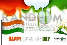 Happy Republic Day - Random Soft Solution / Freedom in mind, Faith in words. Proud in our hearts, Memories in our soul. Let Salute our Nation, on this 26 January... Random Soft Solution www.randomsoftsolution.com
