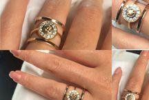 Wedding Inspiration / Elegant bridal ring set