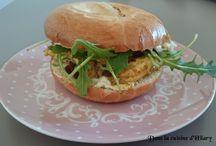 Bagel, burger, hot dog and co