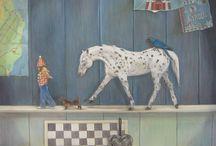 Kirsten Krijthe paintings and drawings / Schilderijen, mens en dier, kinderen, illustratief, emotie, ingetogen, kleur. Paintings, people and animals, children, illustrative, emotion, color