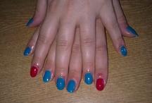 hybrid nails / my own stylisations of hybrid nails
