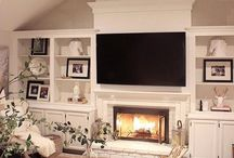 Fireplaces and bookcases