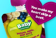 Be My Valentine / A collection of Baby Gourmet Valentine's cards!