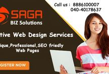 PHP, WordPress, Joomla Website Development services in Hyderabad / With the CMS service by Saga Biz Solutions you can have easy access to web application development programs and all the benefits of a CMS. We provide high quality websites with additional services which would be a complete package for your business.