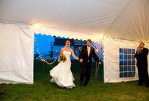 Tented Wedding Receptions / Elegant, romantic tented receptions at Friendly Crossways.