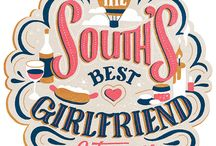 Mix of Lettering Styles / A Pinterest board devoted to lettering and typography using a mix of styles, from script to serif to sans-serif