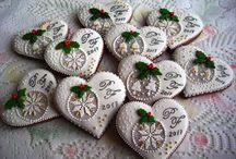 Ornamente dulci pentru masa de Crăciun