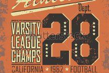 vintage college art print