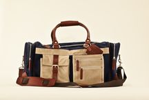 CG Bags / Claes Göran Canvas bags in waxed, strong cotton canvas with details in leather and polyester lining on the inside.