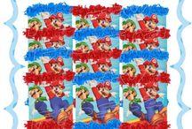 Mario Bros Party Birthday Decorations