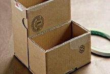 Pahvi(laatikoiden) uusiokäyttöä