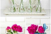 Flower arrangements / Flower garden decorating