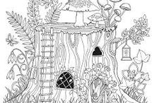 enchanted places coloring page
