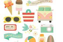 Lato wakacje BuJo
