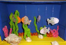 Basteln: Aquarium im Schuhkarton