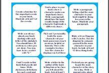 Bokläsning läslogg / Innehåll till läslogg