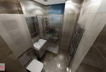 PROJEKT WNĘTRZA ŁAZIENKI W NIEPOŁOMICACH / Niewielka łazienka, wielki efekt. Małe łazienki powoli staja się naszą specjalnością. Przy wnętrzach tego typu, zawsze na uwadze mamy zaprojektowanie odpowiedniego układu funkcjonalnego oraz użycie materiałów wykończeniowych, które nie przytłoczą pomieszczenia, ale nadadzą mu uroku oraz przestronności.