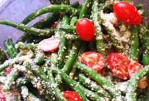 Parve salads / Snap pea hearts of palm and grape tomato salad