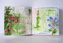 My art journal pages / Pages and details from my art journal