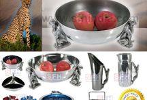 African Cheetah Tableware Collection / African Cheetah Aluminium Tableware Catalogue