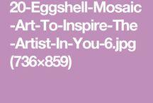 mosaico con cascara de huevo