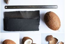 DIY coconut shell / DIY coconut shell accessories. home design. home accessories
