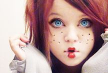 """Doll makeup / Ideas for a doll makeup. Cute ...and creepy! Like it? See also my boards """"Fantasy makeup"""", """"Candyland"""" and """"Dark + gothic stuff""""."""
