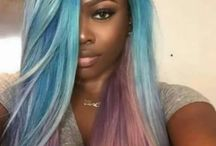 Beautiful colored hair