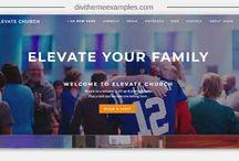 Divi Theme church examples