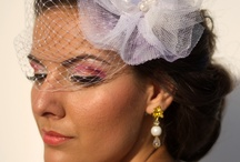 Birdcage veil made by me :)